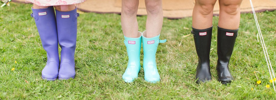 Wellies in a Field